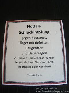 Notfallschluckimpfung (Inhalt: kleine Schnapsfläschchen)