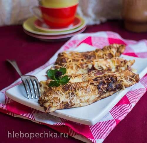 Speckpfannkuchen - Блины с запеченным беконом и сыром
