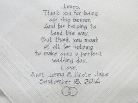 Alternative Wedding Gift Poem : Wedding Handkerchiefs Hankerchiefs gifts poem hankies wedding ...