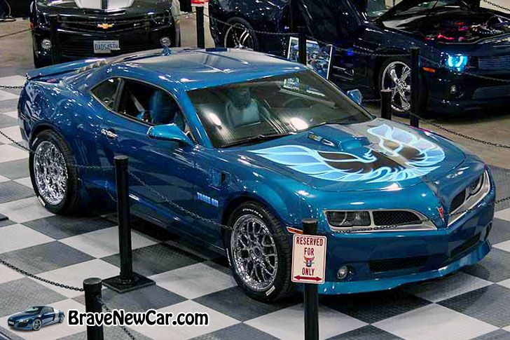 2015 Pontiac Trans Am model at SEMA Auto Show, based on the current Chevy Camaro  http://bravenewcar.com/2015-pontiac-firebird-trans-am-engine-design/
