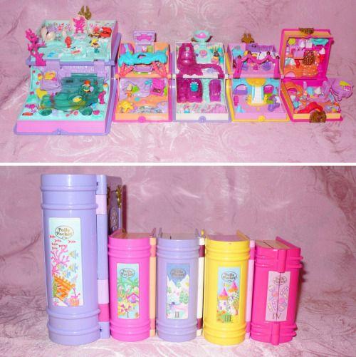 "lilletta18stuff: ""Polly Pocket Enchanted Storybooks - Sparkling Mermaid Adventure - Glitter Island - Princess Palace - Sparkle Snowland - Sweet Treat Shoppe """