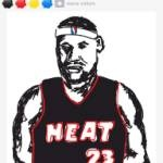 Best LeBron I've seen so far by an artist on Draw Something - plus just using the four starting colors too!   omgpop.com/drawsomething