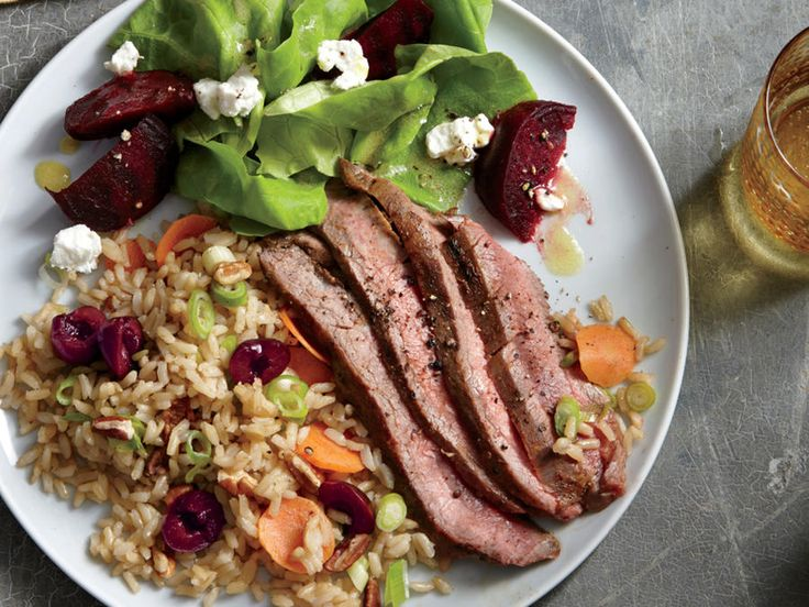 Learn how to make Grilled Flank Steak with Cherry-Pecan Rice . MyRecipes has 70,000+ tested recipes and videos to help you be a better cook