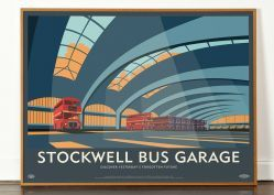 Lost Destination: Stockwell Bus Garage. In a series of concrete/Brutalist art prints.