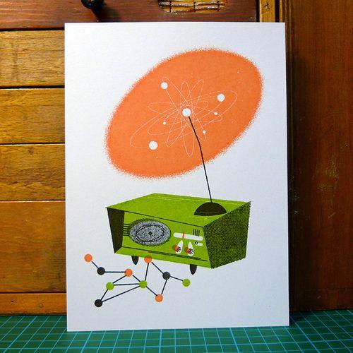 RadiolabPosters Inspiration, Mid Mod Illustration, Cartoons Blog, Art Inspiration, Daily Inspiration, Inspiration Image, Digital Art, Mid Century Illustration, Inspiration Blog