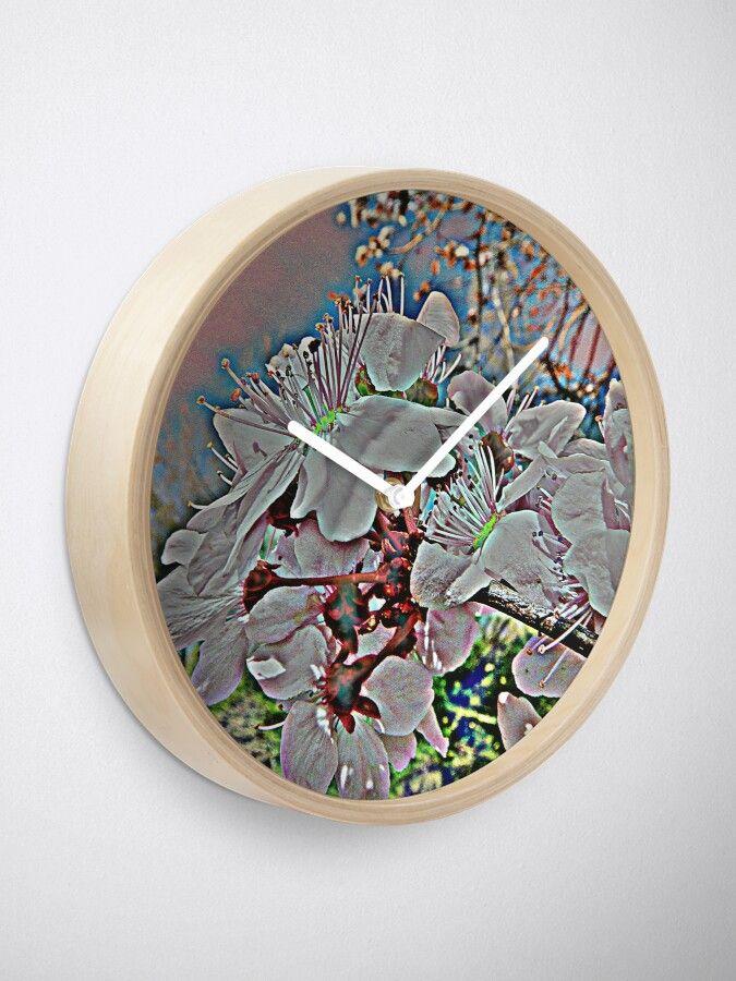 Uhr – Kirschblüten   – Wohndeko: Uhren