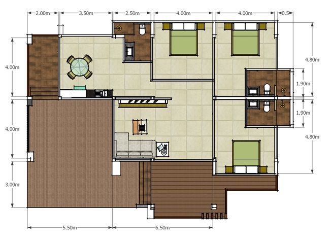 Modern Single Storey House Plan