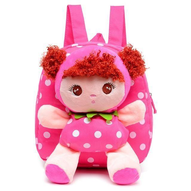 6749ba8fac57 Kids Cartoon Baby Girls Plush Cotton School Bags Children Stuffed Plush  Toys Backpack Rucksack for Kindergarten