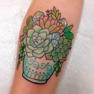 watercolor succulents tattoo - Google Search