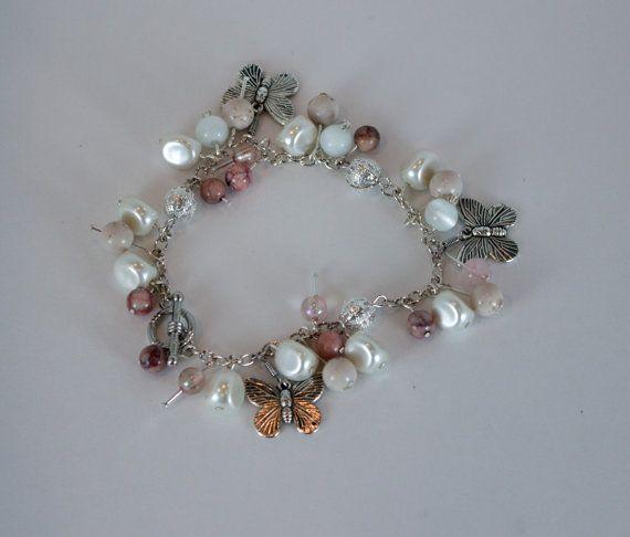 Apple Blossom Charm Bracelet by KateMaderDecor on Etsy