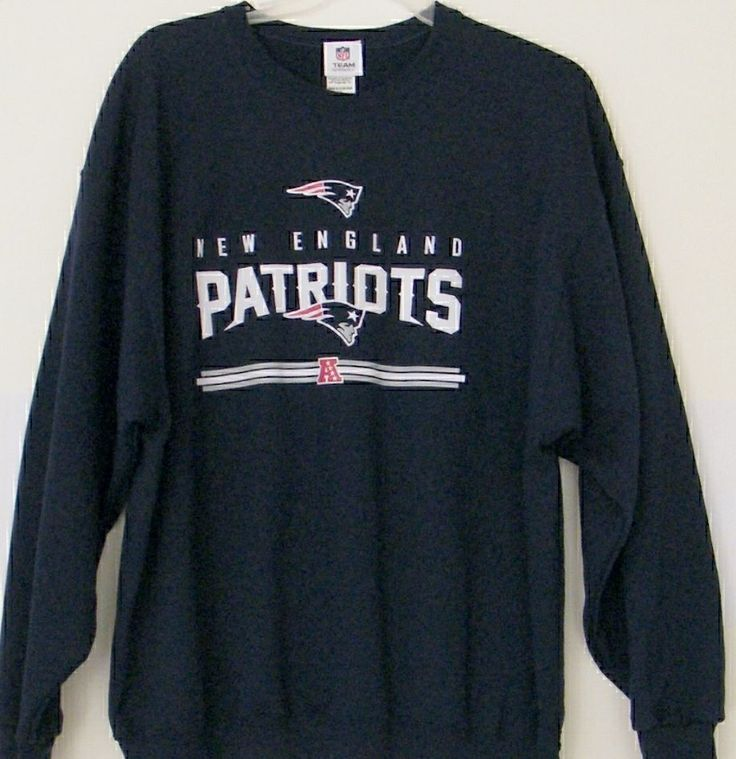 NFL New England Patriots Sweatshirt Blue 2XL XXL Team Apparel Crew Neck Football #NFLTeamApparel #NewEnglandPatriots