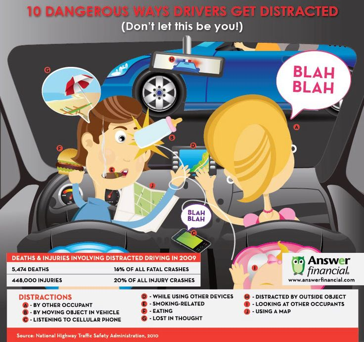 Driving safety and distractions