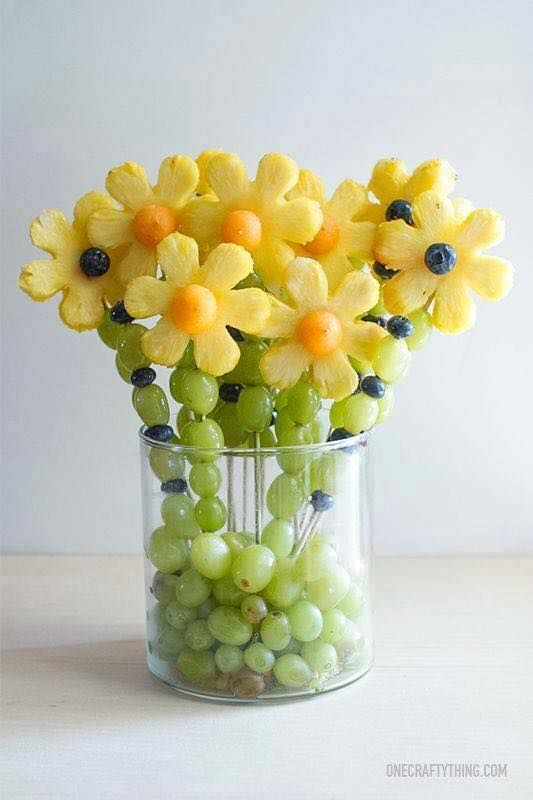 Beautiful fruit bouquets. fresh and healthy! Greeting from-->coolcreativity.com