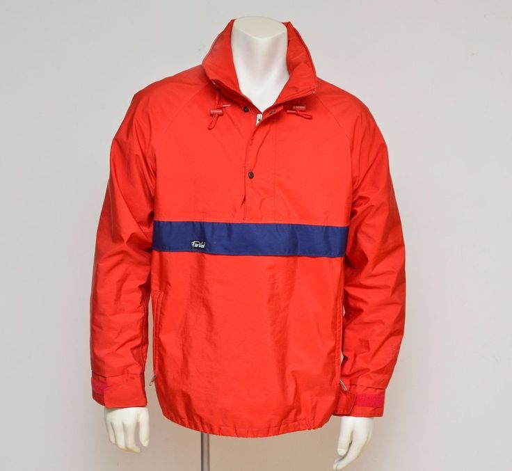 Red FarWest Mountain Wear Mens Jacket Gore-Tex Water Resistant Size M #FarWest #BasicJacket