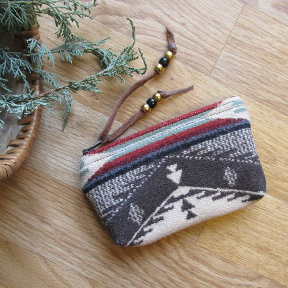 Medicine Bag Totem Pouch Coin Zippered Change by HeritageMusic