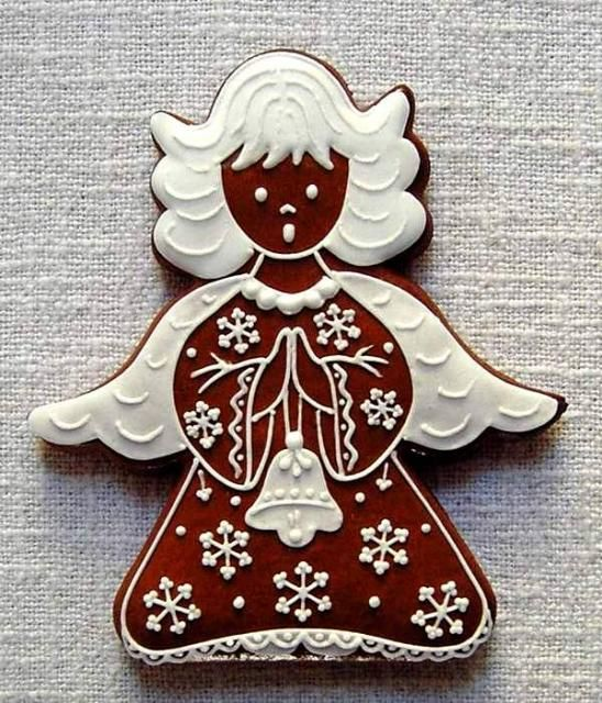 Christmas gingerbread angel