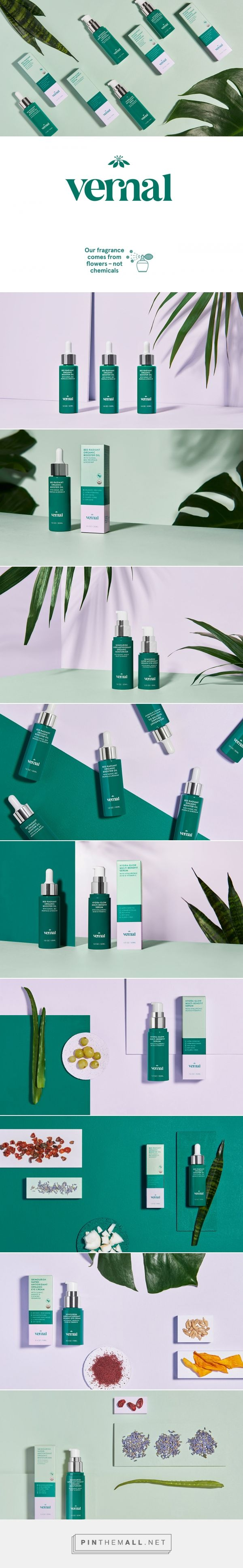 Vernal Beauty Anti-Aging Skincare Packaging by Saana Hellsten | Fivestar Branding Agency – Design and Branding Agency & Curated Inspiration Gallery