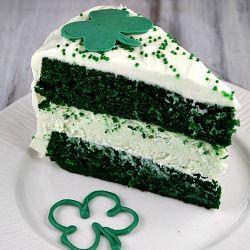 Green velvet cheesecake cake @ http://www.recipegirl.com/2012/03/05 ...