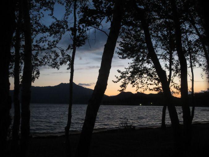 Sunset at lake - Borovoe