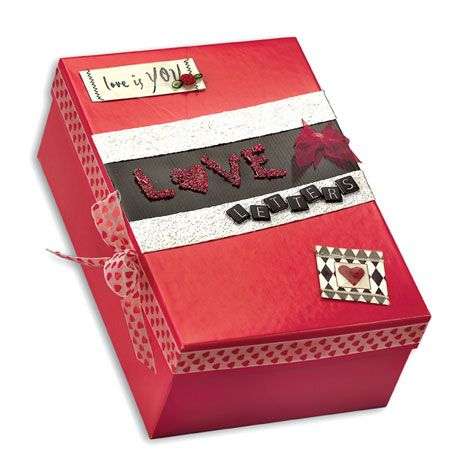 Love Letters Box.  Great project for storing cherished mementos and love letters from your Valentine.