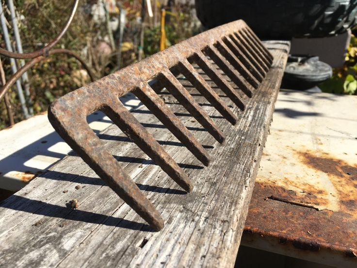 Vintage Garden Rake...Rusty...Farm Tool...Farm Rake...Salvaged...Barn Relic...Primitive...Wall Art...Repurpose...Photo Prop..Jewelry Display by AlloftheAbove on Etsy