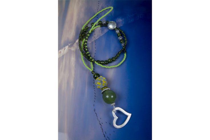 Charm- & Bettelketten - Bettelkette Halskette Charmkette grün - ein Designerstück von kreativrausch-kiel bei DaWanda