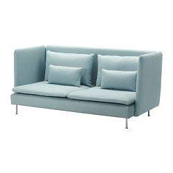SÖDERHAMN 3:n istuttava sohva, korkea selkän - Isefall vaalea turkoosi - IKEA