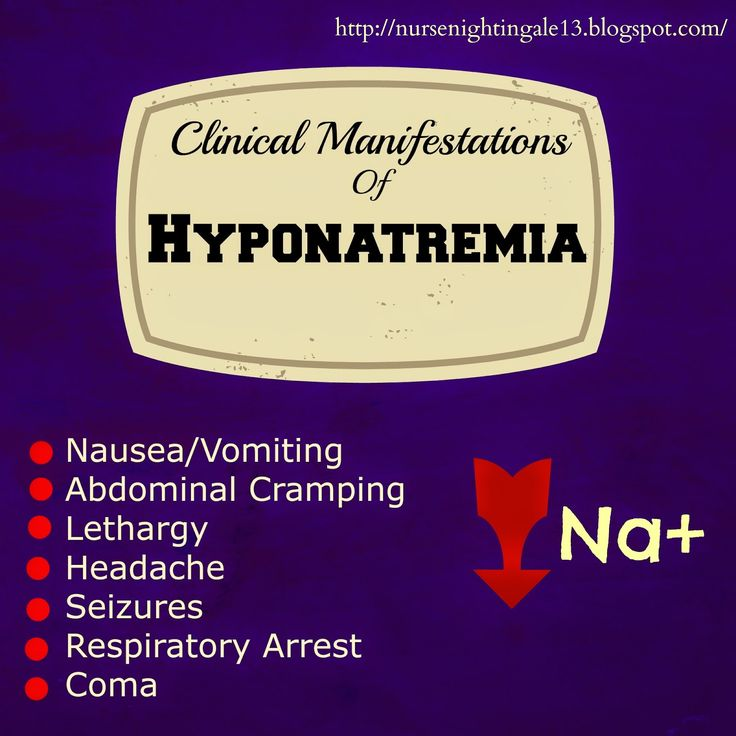 Nurse Nightingale: Clinical Manifestations of Hyponatremia. Blog for nursing students and new nurses! Pin now, read later!