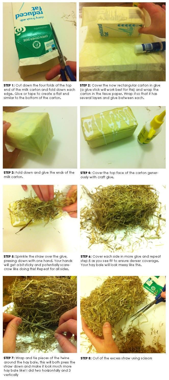 diy mini hay bales - Google Search