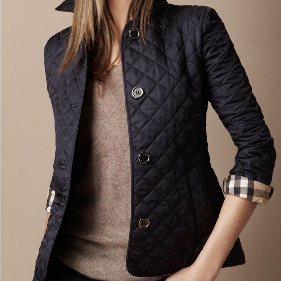 Black Burberry quilted jacket Perfect condition. Worn once. Size small. Burberry Jackets & Coats