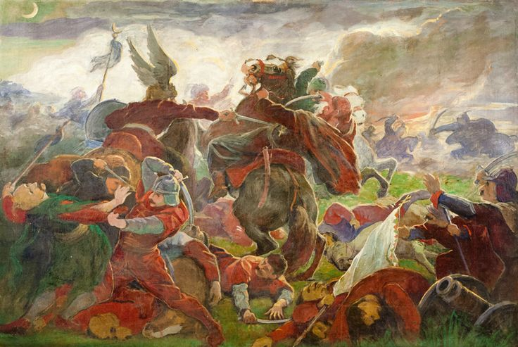 Death in battle [...] by Jozef Hanula, 1895/1896.  Slovak national gallery, CC BY