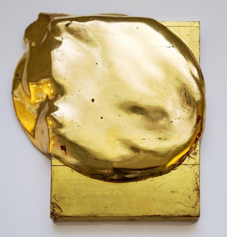Gold Pour on Gold | From a unique collection of abstract paintings at https://www.1stdibs.com/art/paintings/abstract-paintings/