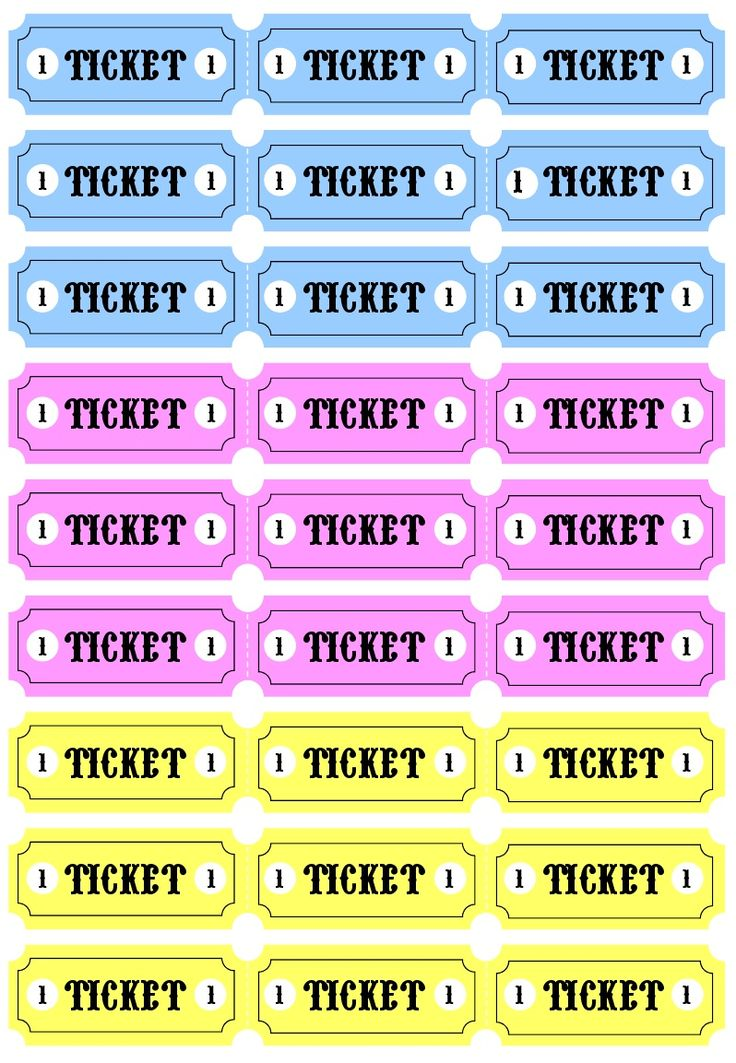 Play Tickets printable