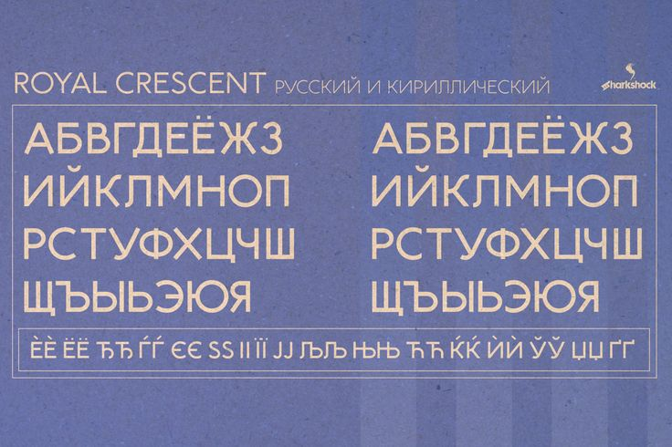 Cyrillic characters available in the full version of Royal Crescent.  Эти русские символы доступны в полной версии этого шрифта. #typography #font #fonts #european #sharkshock #типография #шрифт #русский