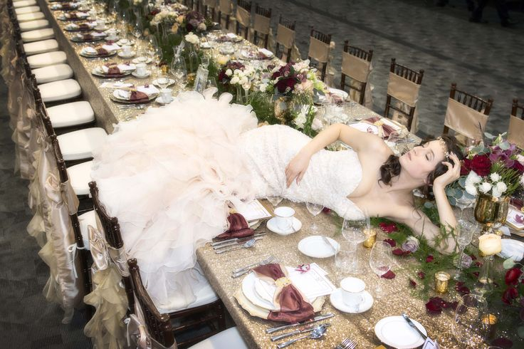 As the official photographer for the Modern Bride Show in Victoria I was able to get a little creative with the magnificent wedding table laid out for the main display.
