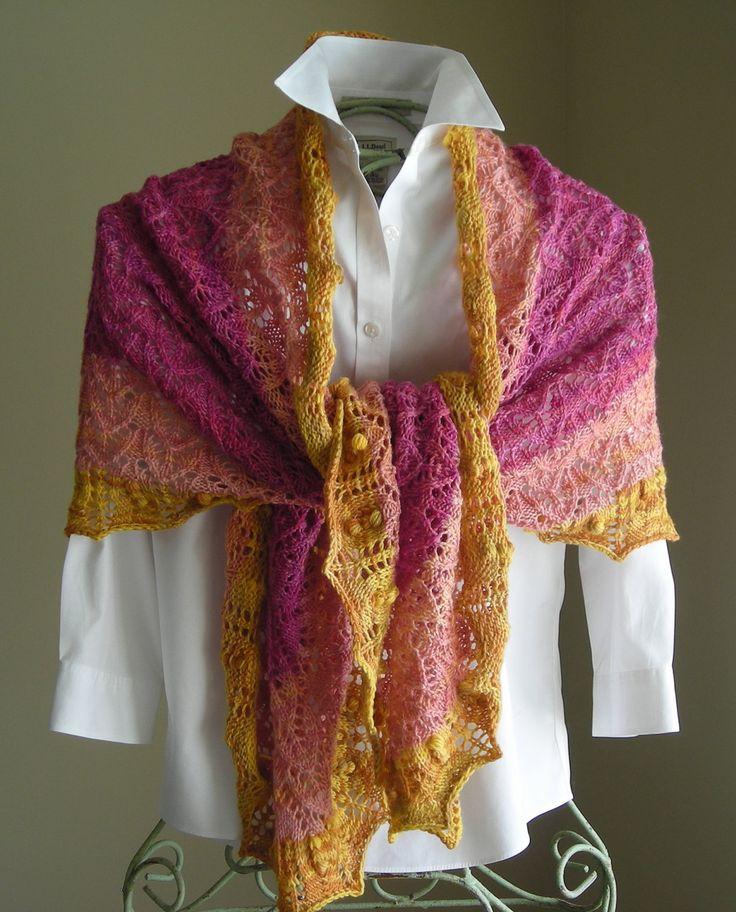 Knitting Pattern PDF - Crape Myrtle Scarf/Shawl - great for gifts - scarf/cowl/shawl/wrap - pattern using sock fingering lace yarn. $5.95, via Etsy.