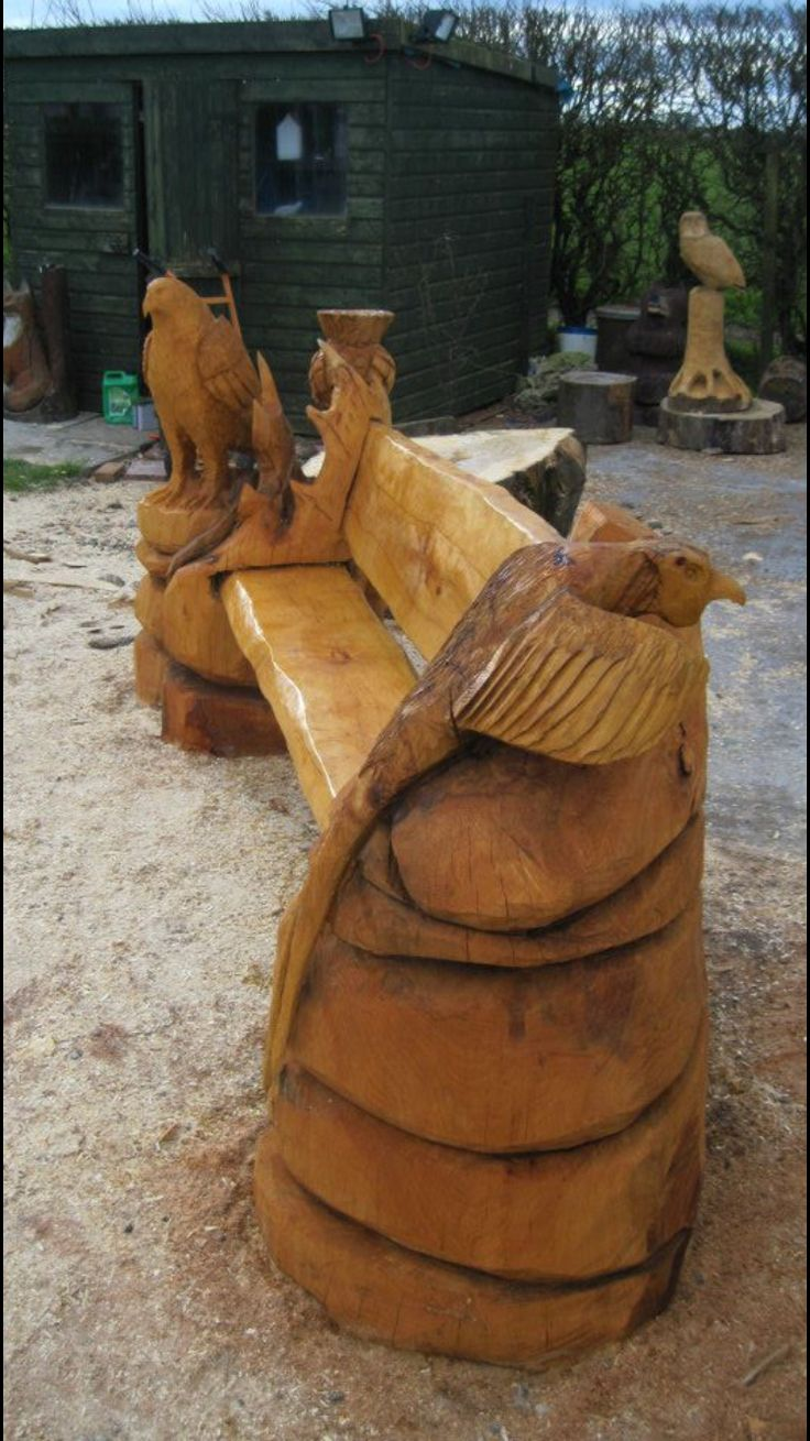Images about chainsawmagic chainsaw carvings on