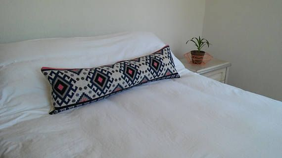 Kilim lumbar pillow aztec body pillow decorative kilim