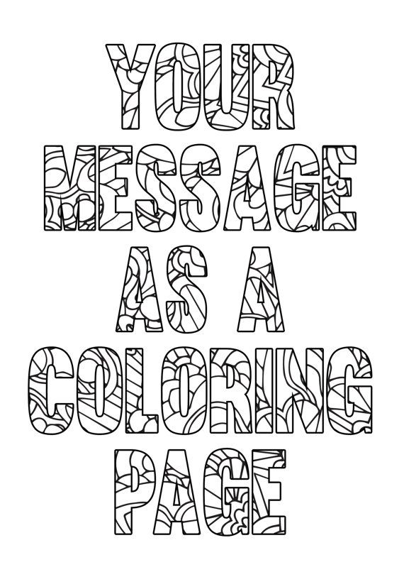 Personalized coloring page - Printable A4 coloring page ...