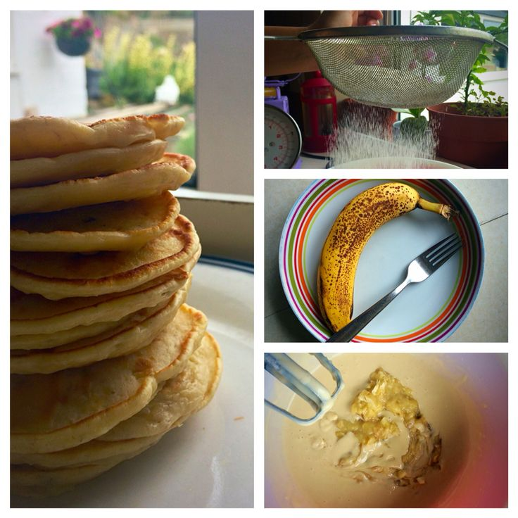 American Banana Pancakes  - a quick and easy treat for the weekend.  Served with maple syrup.  Recipe on the blog site.