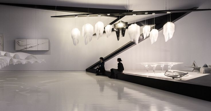 Avia white and Aria designed by Zaha Hadid exposed at the Tokyo Opera City Art Gallery
