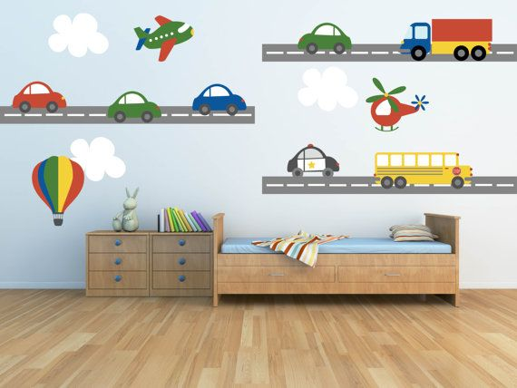 Truck Wall Decal Plane Wall Decal Car Wall Decal door YendoPrint