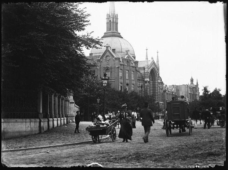 Stadhouderskade - west, Amsterdam 1895. Foto: Jacob Olie