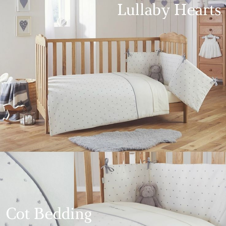 Made in the UK with love in every single stitch! We proudly present the luxurious Lullaby Hearts Cot Bedding Set ♥ -
