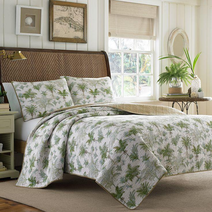 Tommy Bahama Anglers Isle Breeze Quilt Set. #BeddingStyle #bedding #bedroom  #TommyBahama