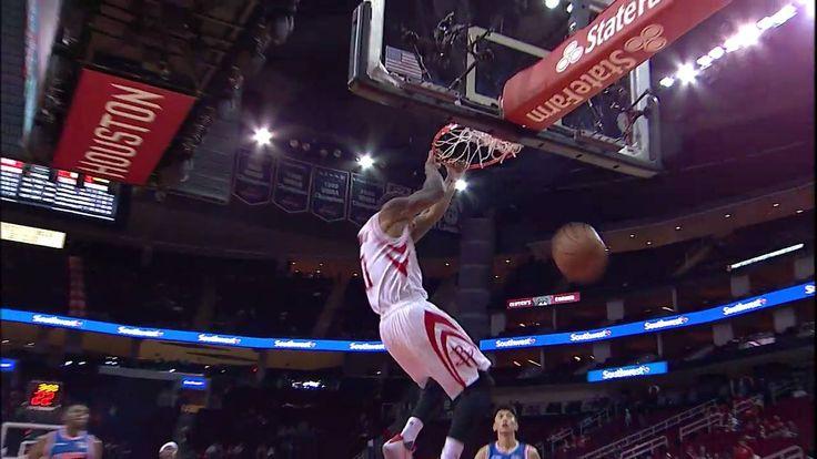 Gary Payton II elevates for the Houston Rockets in #NBAPreseason!