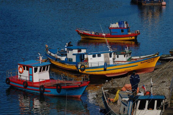 Fishermen boats in Puerto Montt; Chile Eureka Travel #SouthAmerica