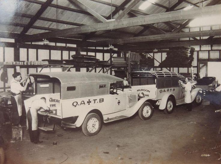 Building Queensland Ambulances, late 1930s, Charles Hope body works, Brisbane, Australia
