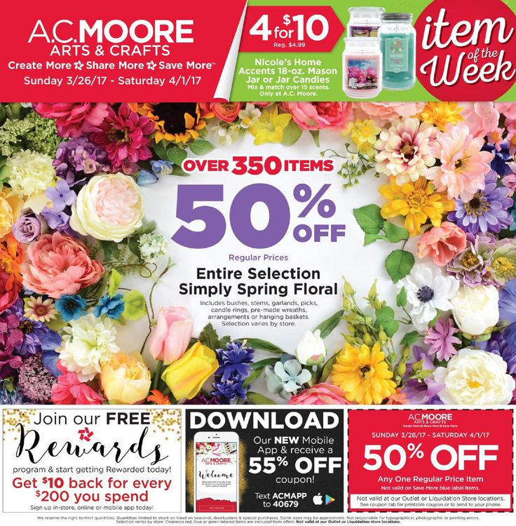 AC Moore Weekly Ad March 26 - April 1, 2017 - http://www.olcatalog.com/home-garden/ac-moore-weekly-ad.html