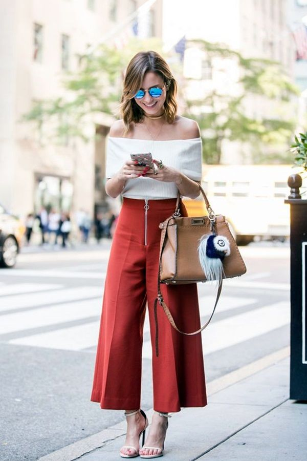 25 Casual Culottes Outfit Trends To Change The Way Of Styling | Casual Culottes Outfit | Stylish Outfit Ideas | Fenzyme.com